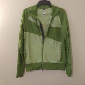The North Face Green Fleece Zip Up Jacket/Sweater